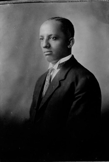 Portrait of young man in suit and necktie