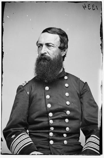 Portrait of bearded man in uniform