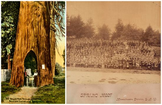 Postcard and photograph of spring meet participants
