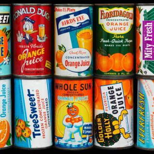A selection of canned juice