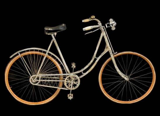 The 1896 bicycle after its recent treatment by conservator Diana Galante