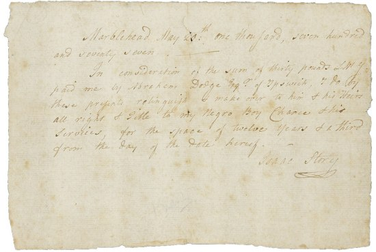 Handwritten document signed by Isaac Story