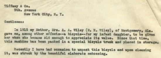 Excerpt of the 1930 letter that is quoted in the blog text