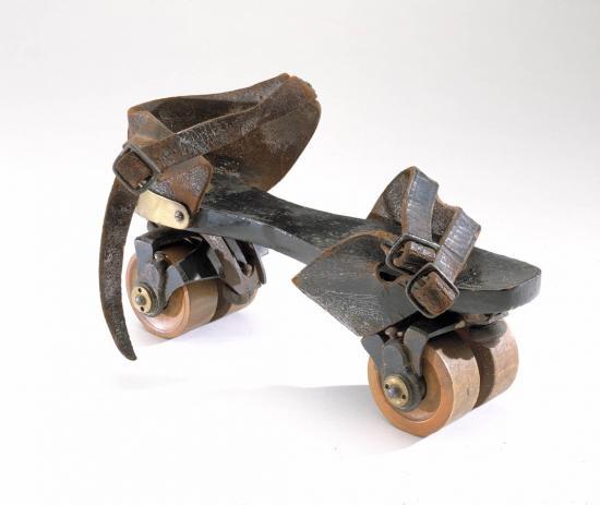 1860s Plimpton roller skate