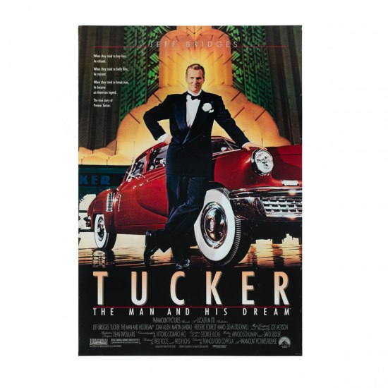 Poster for the 1988 film, Tucker: The Man and His Dream