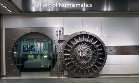 The Value of Money exhibition vault door entrance