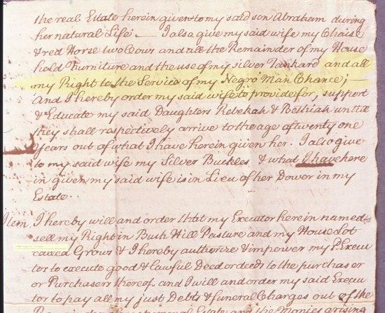 Fragment of handwritten document