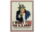 """""""I Want You for U.S. Army,"""" 1917, James Montgomery Flagg, chromolithograph on paper, Smithsonian American Art Museum, Gift of Barry and Melissa Vilkin, 1995.84.53"""