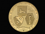 """The medal's reverse (tails side) depicts the insignias of the 100th INF BN, 442nd RCT, and MIS. The 100th INF BN insignia features a taro leaf and a traditional Hawaiian helmet, both of which are emblematic of the unit's Hawaiian roots. The """"Go for Broke"""" Torch of Liberty shoulder patch represents the 442nd RCT. The sphinx, a traditional symbol of secrecy, represents the MIS insignia."""