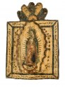 Retablo Devotional Image of the Virgin Mary as Our Lady of Guadalupe, New Mexico, around 1820