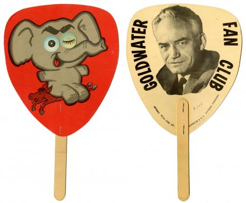 Fan advertising Goldwater campaign