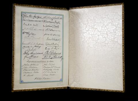 Folio with signatures