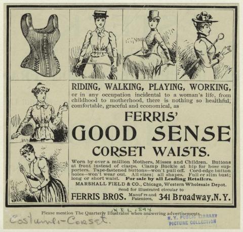 Ferris' Good Sense Corset Waists, NYPL