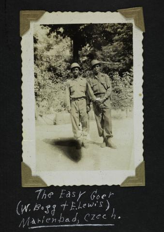 Two men in military uniform
