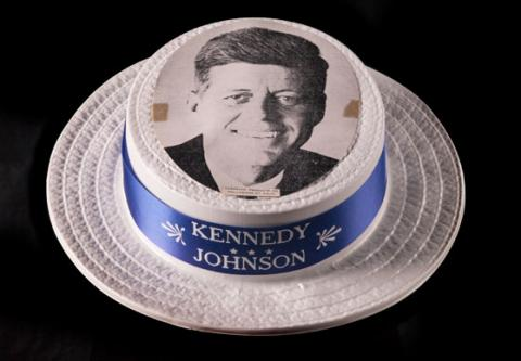 Woman's Kennedy/Johnson campaign hat