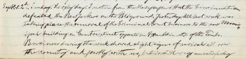 Steinway's September 2, 1894, diary entry