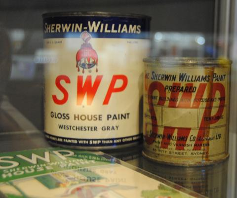 House paints on display at Sherwin-Williams