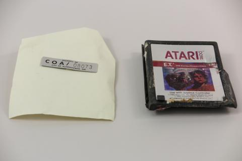 The cartridge with the City of Alamogordo serial number verifying it came from the landfill