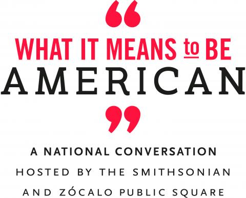 """""""What It Means to Be American"""" logo"""