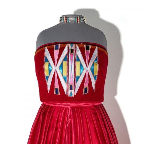 Isabella Aiukli Cornell's prom dress