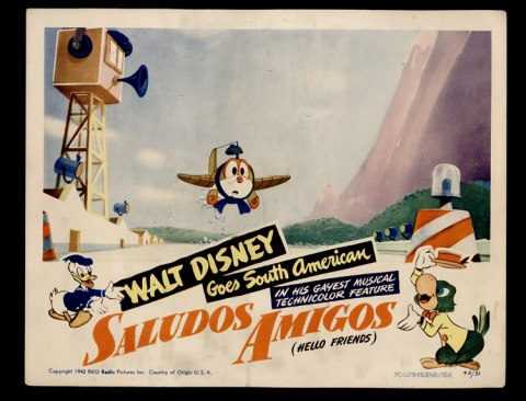 "Lobby cards for the film ""Saludos Amigos"""