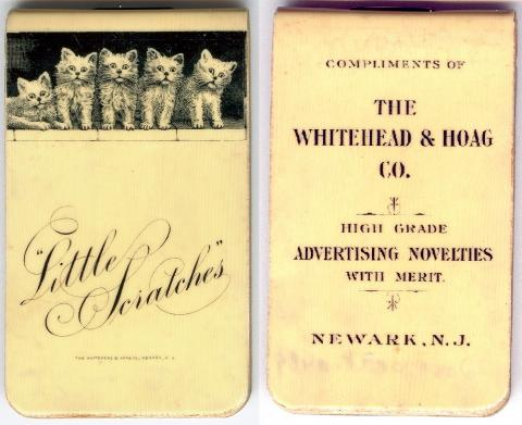 Celluloid calendar featuring kittens