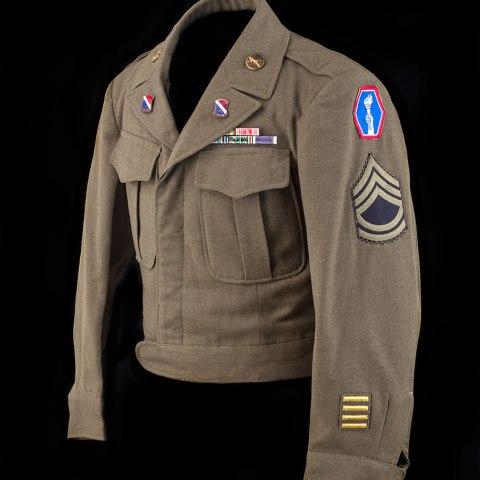 Jim Yamashita of I Company, 442nd RCT's uniform