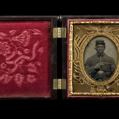 Tintype of an African American Soldier (NMAAHC, gift from the Liljenquist Family Collection)