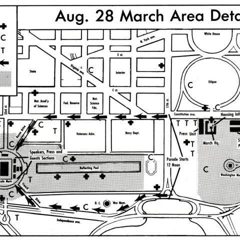 March Map (NMAH, gift of Rev. Walter Fauntroy)