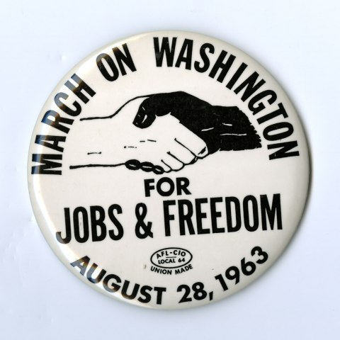 March Button (National Museum of American History, gifts of Virginia Beets, Robert N. Ferrell, Jack S. Goodwin, Sam Steinhart)