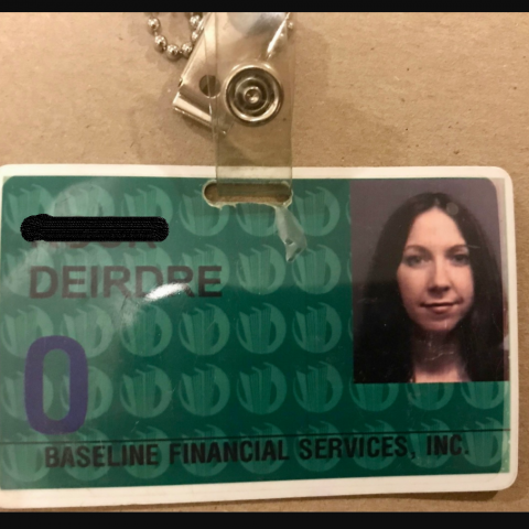 Identification card of Deirdre R.