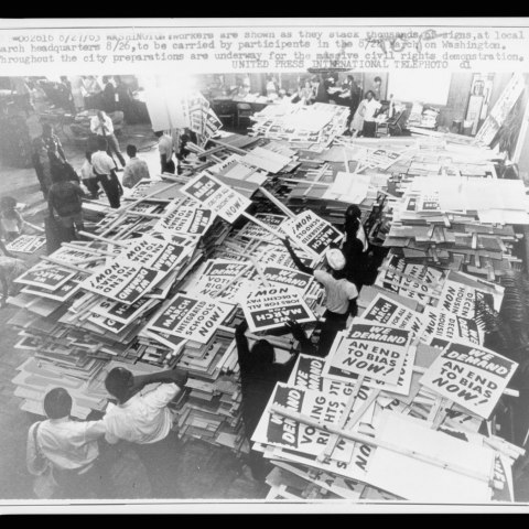 Stacks of signs (Library of Congress)