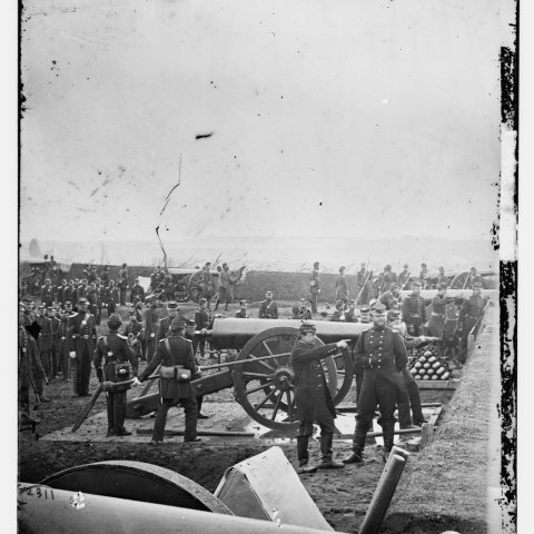 Artillery, Fort Richardson, Virginia, about 1863 (Library of Congress)