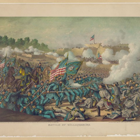 Battle of Williamsburg, May 5, 1862 (Library of Congress)