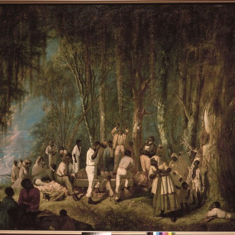 Plantation Burial, Painted by John Antrobus, 1860 (Courtesy of the Historic New Orleans Collection)
