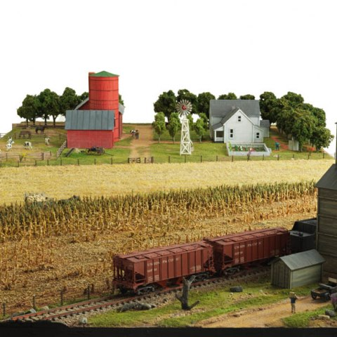 Model of a typical midwestern farm, about 1920, angle 1