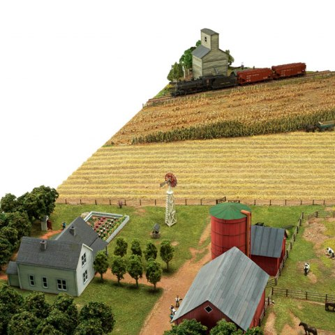 Model of a typical midwestern farm, about 1920, angle 2