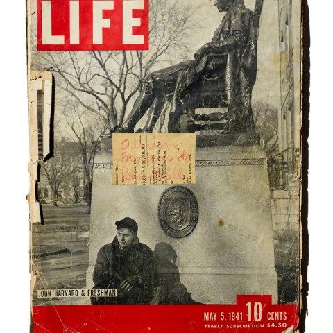 LIFE magazine scrapbook, 1940s–1950s, Gift of Eddie, Ernie, Howard, and Randall Martinez/Álbum de recortes hecho con revista LIFE, décs. 1940–1950, Donación de Eddie, Ernie, Howard y Randall Martínez