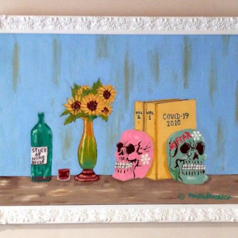 Painting of skulls