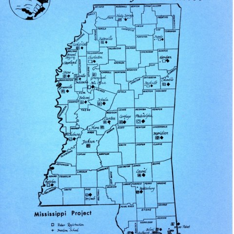 SNCC Mississippi Project Map
