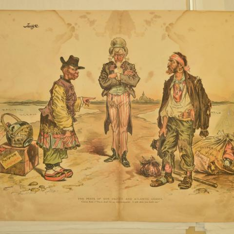 Image of political cartoon