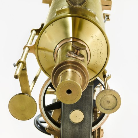 Photograph of the eyepiece of a telescope-type device