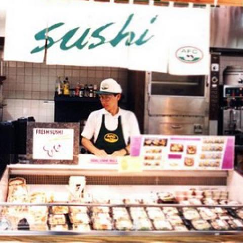 Supermarket sushi bar
