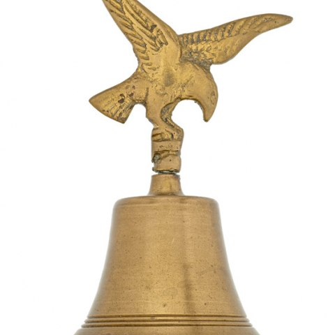 Gold bell topped with eagle design