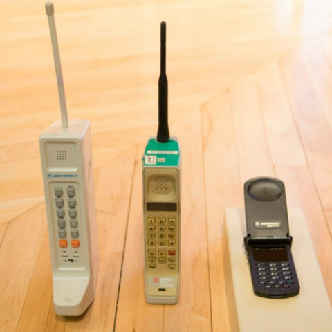 3 old cell phones