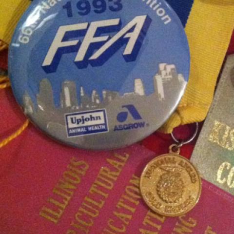 Memorabilia and awards from the FFA