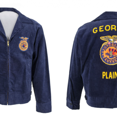 Jimmy Carter's FFA jacket, front and back