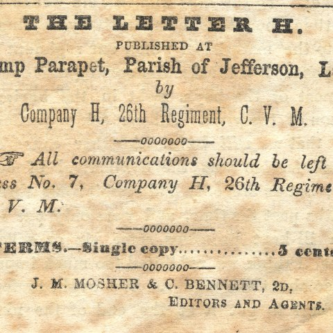 An excerpt from an old, yellowed newspaper with black type
