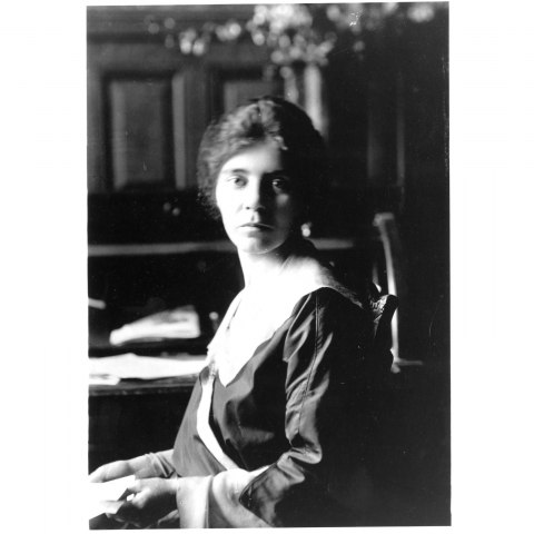 Photograph of Alice Paul, seated