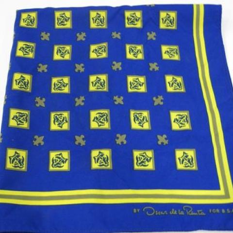 Boy Scout scarf in blue and yellow